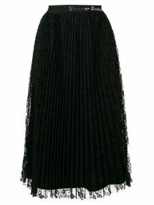 Pinko lace pleated midi skirt - Black