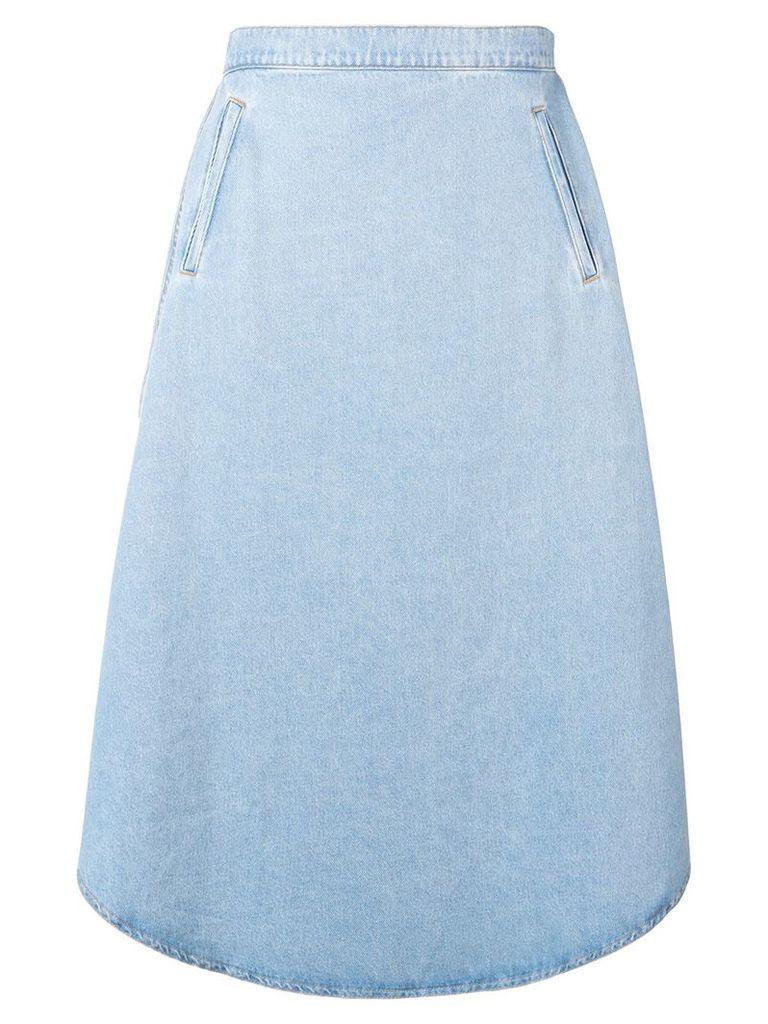 Mm6 Maison Margiela oversized denim skirt - Blue