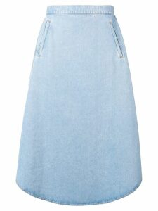 Mm6 Maison Margiela oversized denim skirt - Blue
