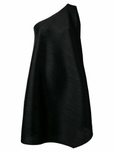 Pleats Please Issey Miyake flared one-shoulder dress - Black