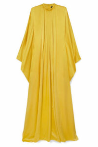 Andrew Gn - Pleated Silk-satin Gown - Yellow
