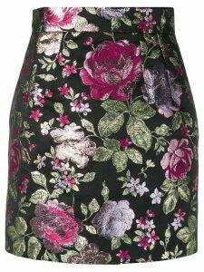 Dolce & Gabbana floral pattern skirt - Black