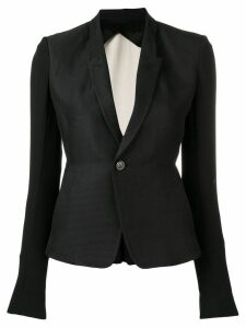 Rick Owens classic slim blazer - Black