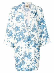 Semicouture floral printed coat - Blue