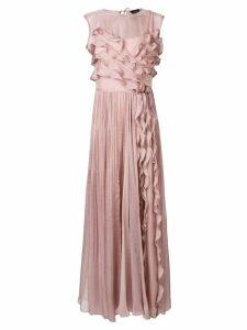 Irina Schrotter long ruffled dress - Pink