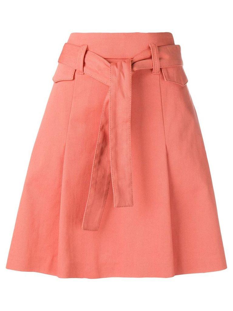 Dorothee Schumacher belted A-line skirt - Orange