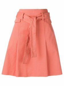 Dorothee Schumacher belted A-line skirt - Orange