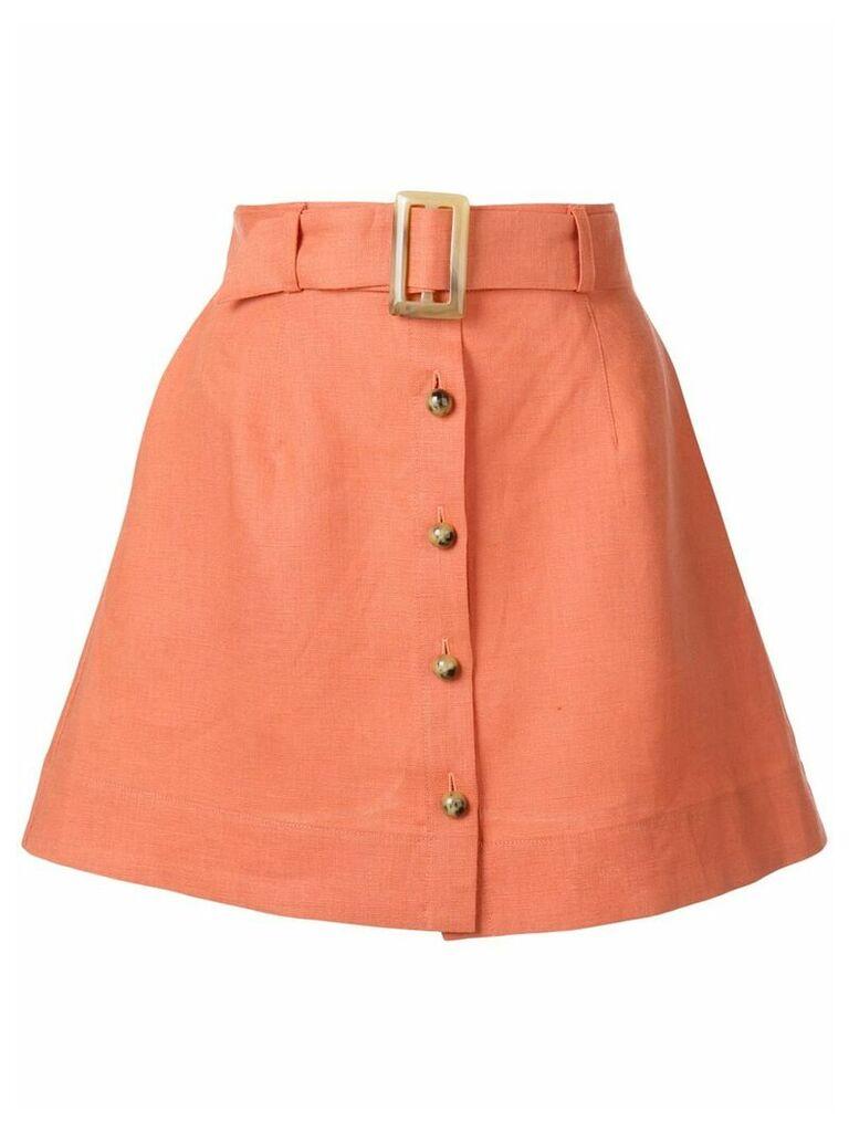 Lisa Marie Fernandez belted a-line skirt - Orange