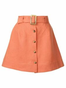 Lisa Marie Fernandez belted a-line skirt - Orange