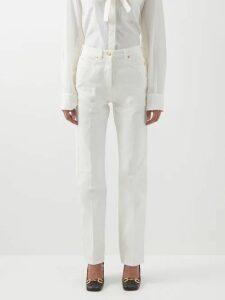 Loup Charmant - Kassos Tiered Organic Cotton Gauze Dress - Womens - Yellow