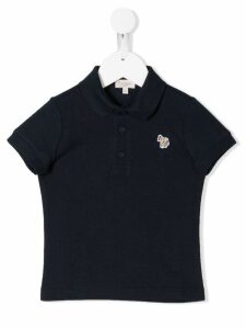 Paul Smith Junior embroidered horse polo shirt - Blue