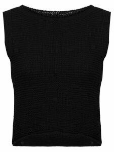 Voz knitted crop top - Black