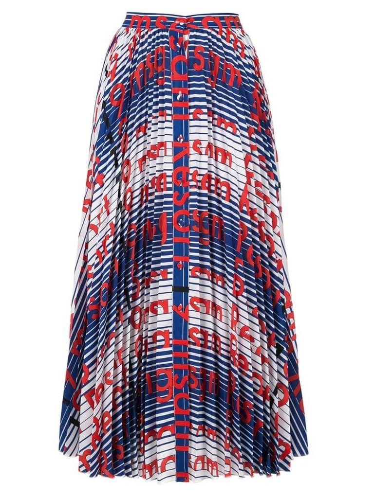 MSGM printed button-down skirt - Multicolour