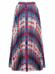 MSGM printed button-down skirt - Multicolour