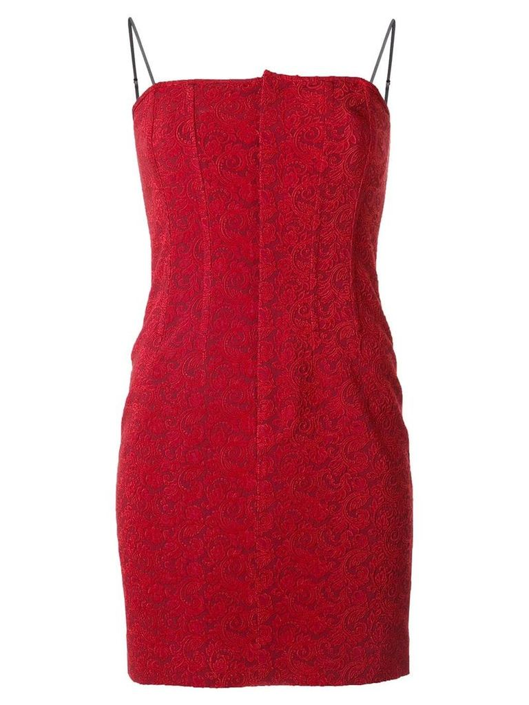 Alexander Wang floral jacquard dress - Red