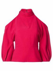 Cushnie off-shoulder blouse - Red