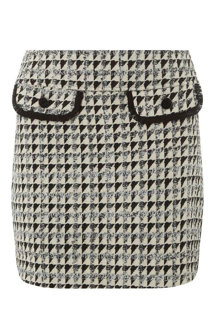 Womens Dorothy Perkins Petite Boucle Skirt -  Black