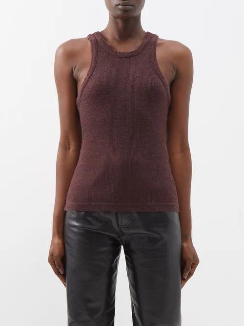 Balmain - Striped Cotton Blend Tweed Jacket - Womens - Blue White