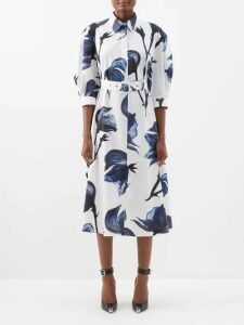 Koché - Bead Embellished Cotton Blend Blazer - Womens - Black Multi