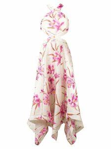 Zimmermann floral-print cutout dress - Neutrals