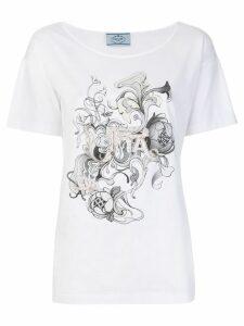 Prada embellished T-shirt - White