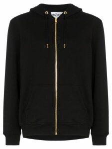 Moschino sequin teddy zip-up hooded jumper - Black