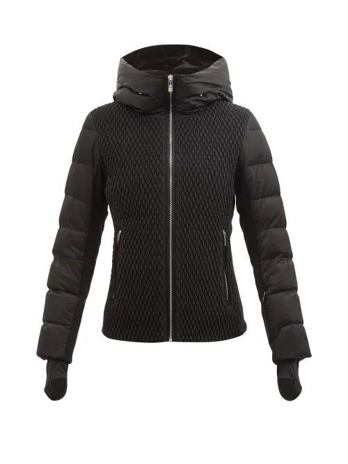 Hunting Season - Lola Satin And Lizard Skin Shoulder Bag - Womens - Black