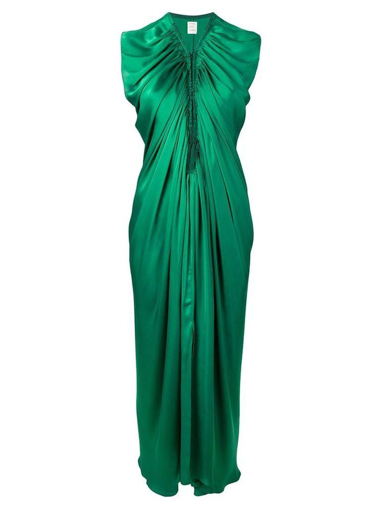 Maison Rabih Kayrouz gathered long dress - Green