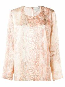Forte Forte snakeskin print blouse - Pink