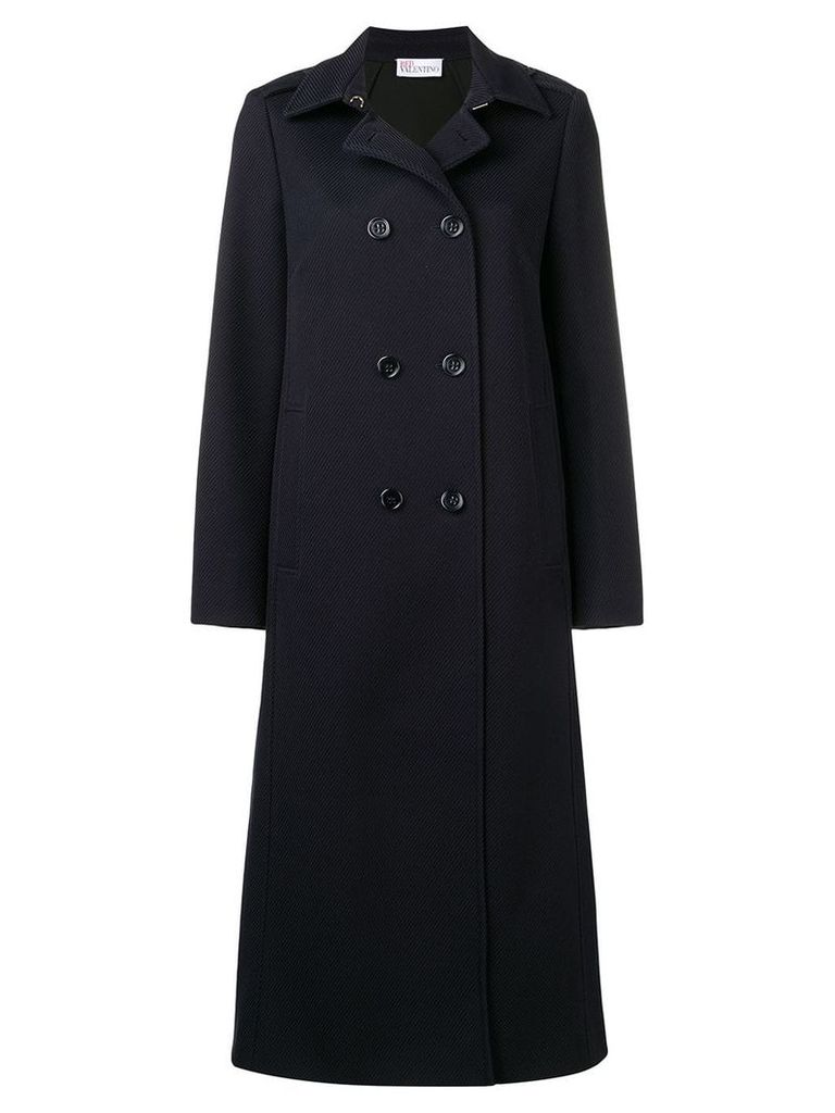 Red Valentino double breasted peacoat - Blue