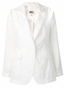 Mm6 Maison Margiela shoulder cut out blazer - White