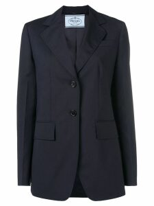 Prada straight-fit blazer - Blue