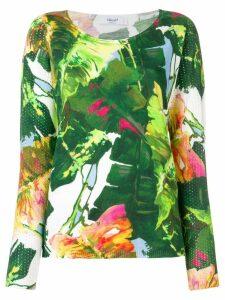 Blugirl palm leaf jumper - Green