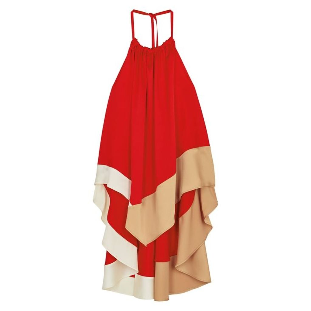Rejina Pyo Erin Red Handkerchief Satin Top