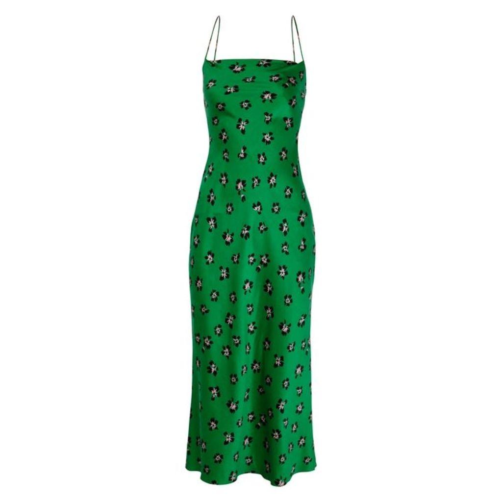 Bec & Bridge Tropicana Floral-print Silk Midi Dress