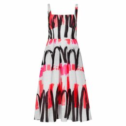 MILLY Camilla White Printed Dress