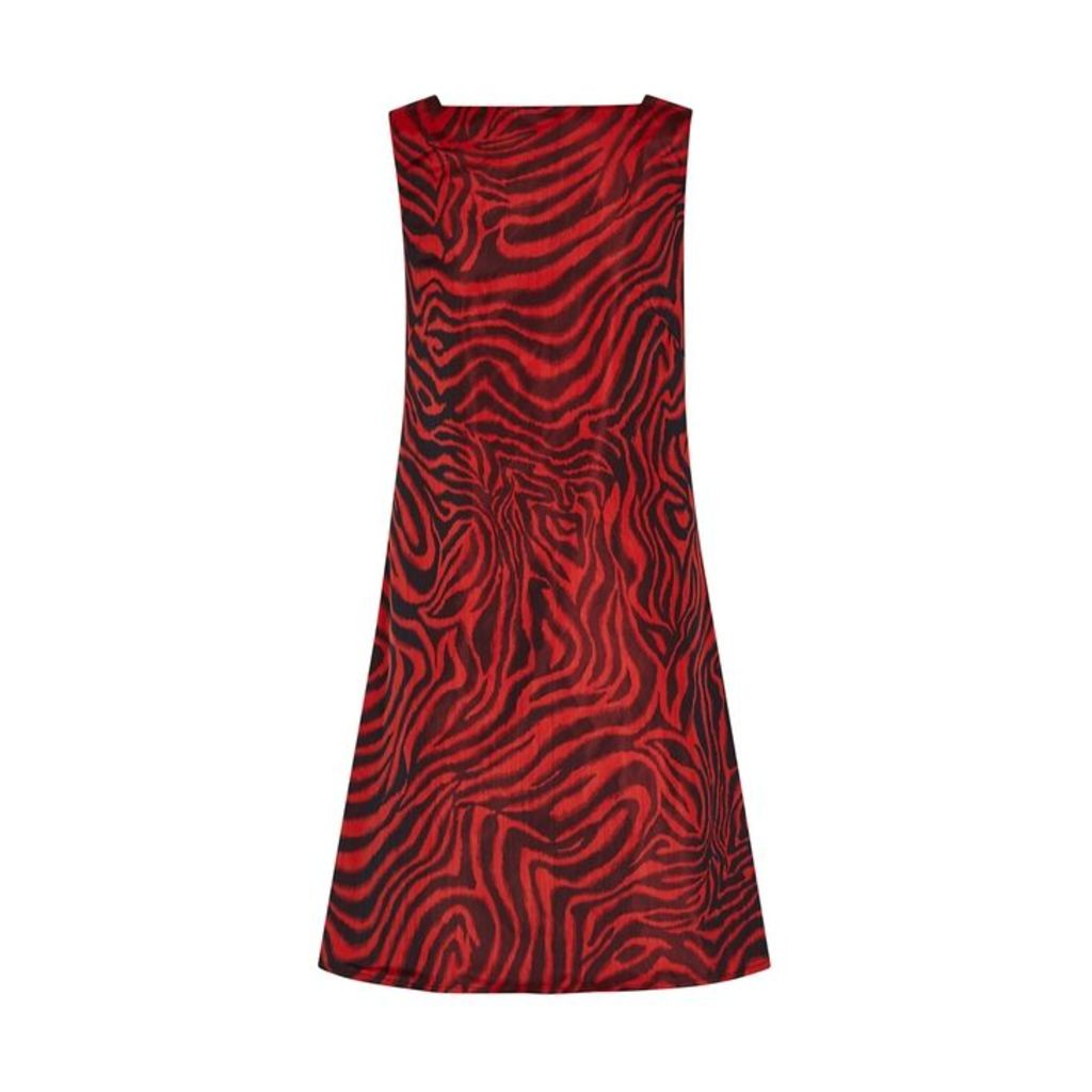 Calvin Klein 205W39NYC Red Zebra-print Shell Dress