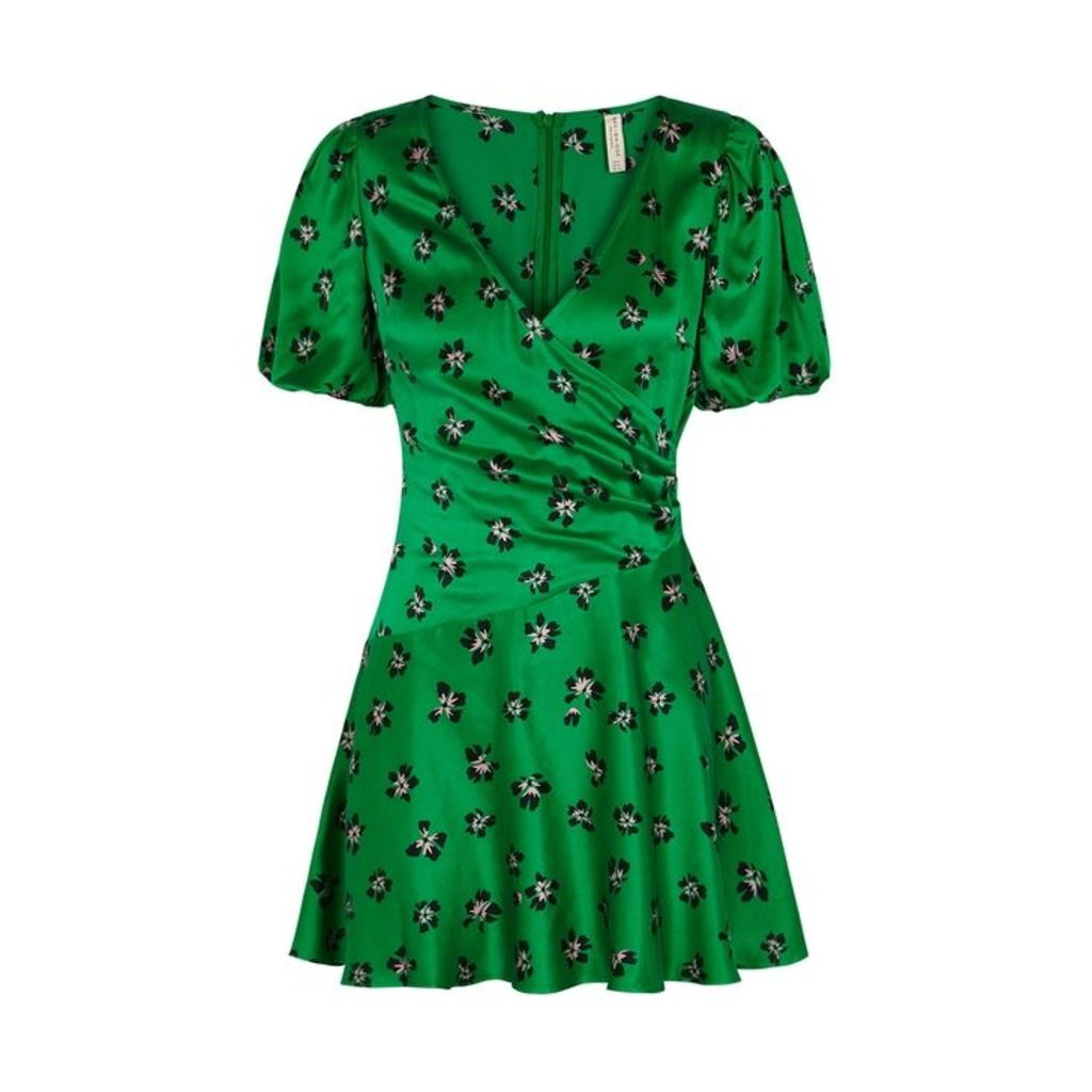 Bec & Bridge Tropicana Floral-print Silk Mini Dress