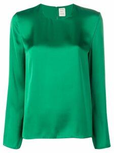 Maison Rabih Kayrouz sheen long sleeve blouse - Green