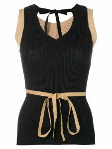 Mm6 Maison Margiela tie waist tank top - Black