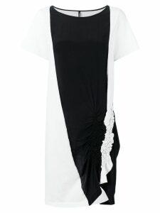 Pierantoniogaspari bicolour T-shirt dress - White