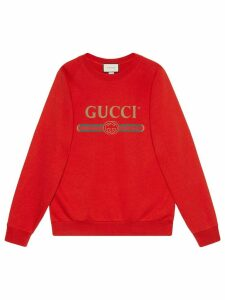 Gucci Oversize sweatshirt with sequin patches - Red