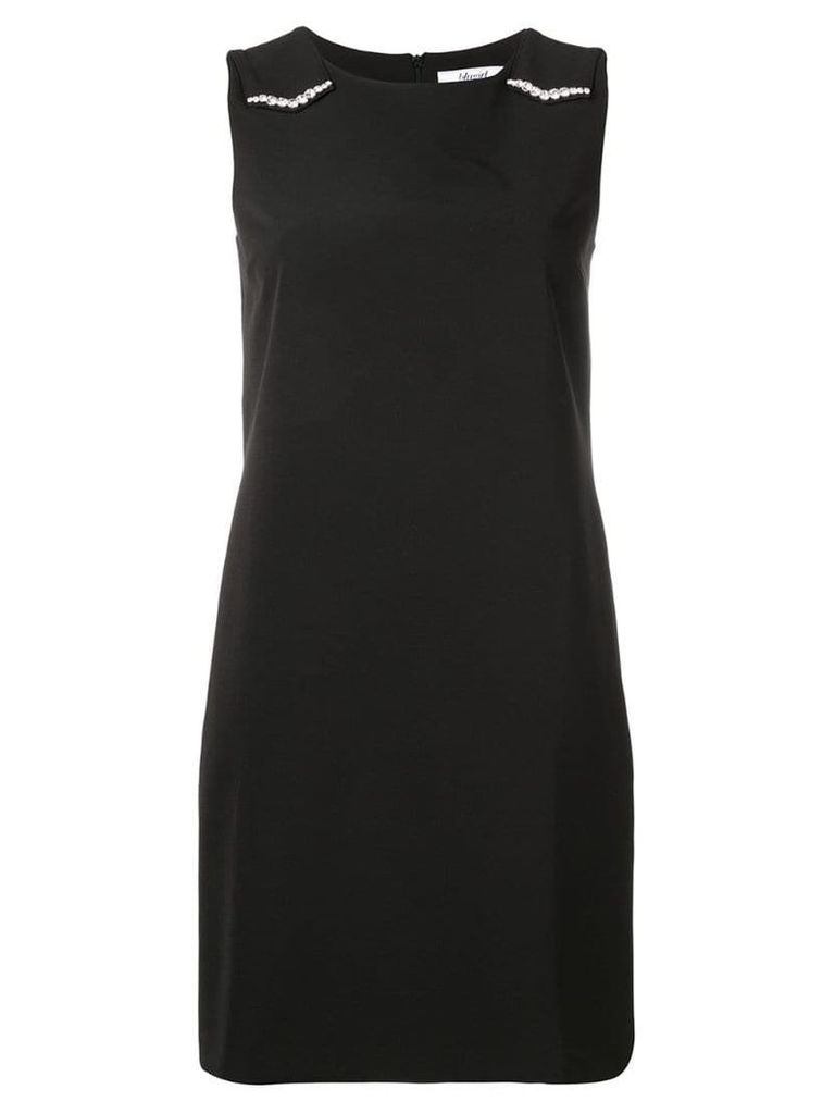 Blugirl embellished shoulder dress - Black