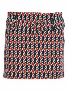 Prada Prada Technical Jacquard Skirt
