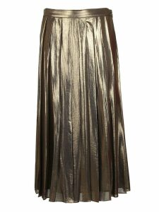 Michael Kors Pleated Metallic Skirt