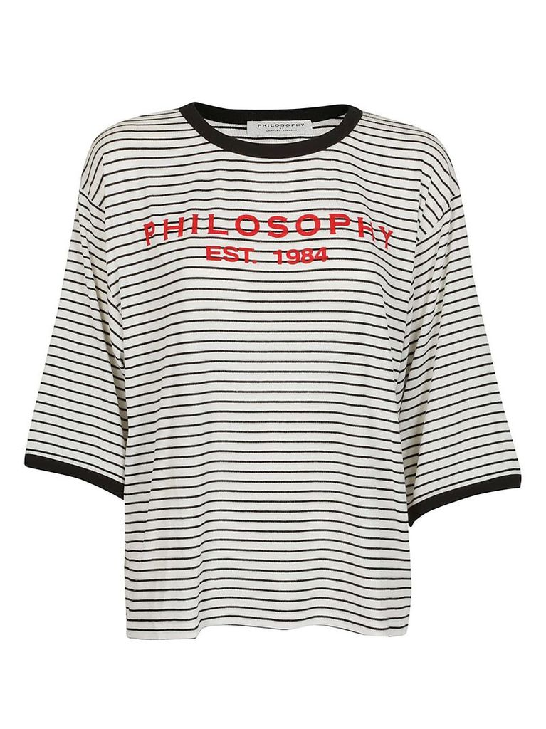Philosophy Di Lorenzo Serafini Striped Print Oversized T-shirt