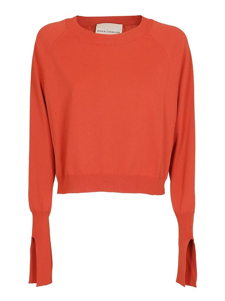 Erika Cavallini Long-sleeved Cut Out Detailed Top
