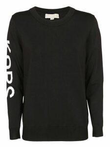 Michael Kors Crew Neck Logo Sleeve Print Sweater