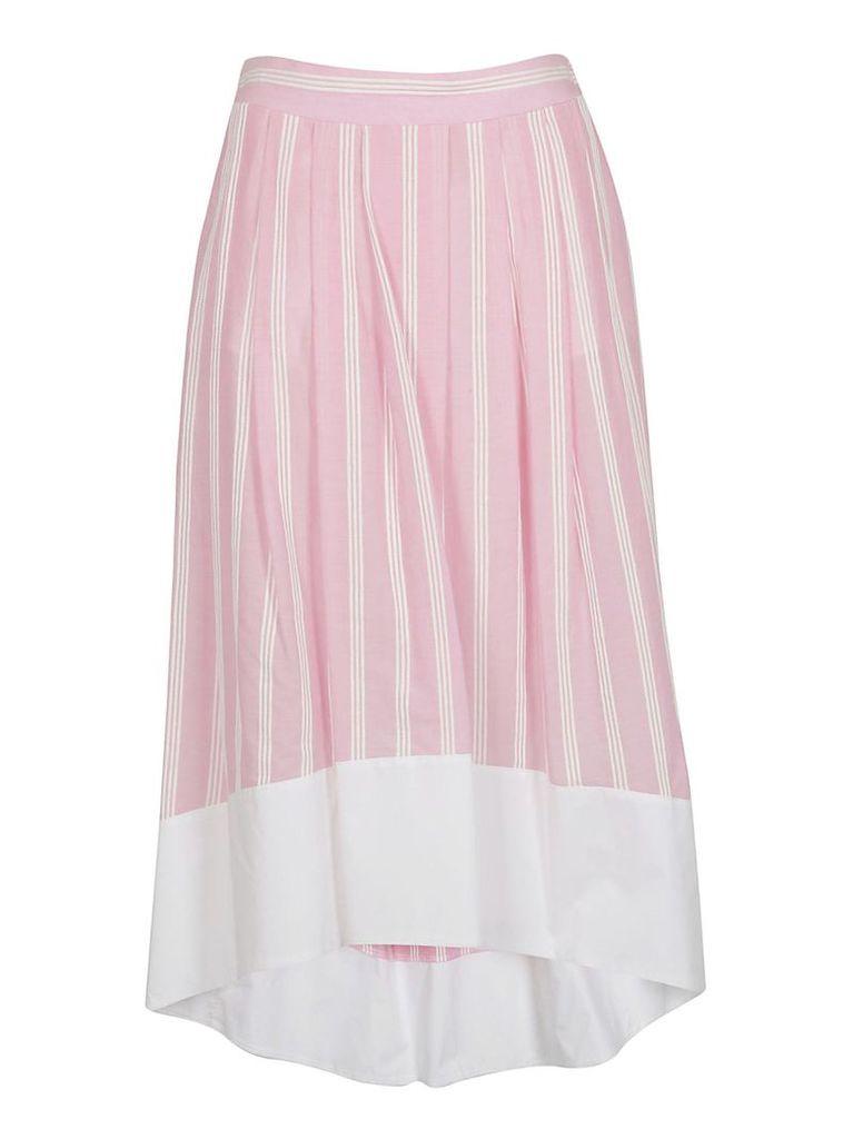 Roberto Collina Striped Print Wide Skirt