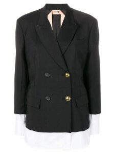 Nº21 double breasted layered jacket - Black